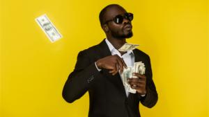 Como usar o subconsciente para ganhar dinheiro - homem negro rico